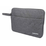 """Manhattan Seattle Laptop Sleeve 14.5"""", Grey, Padded, Extra Soft Internal Cushioning, Main Compartment with double zips, Zippered Front Pocket, Carry Loop, Water Resistant and Durable, Notebook Slipcase, Three Year Warranty"""