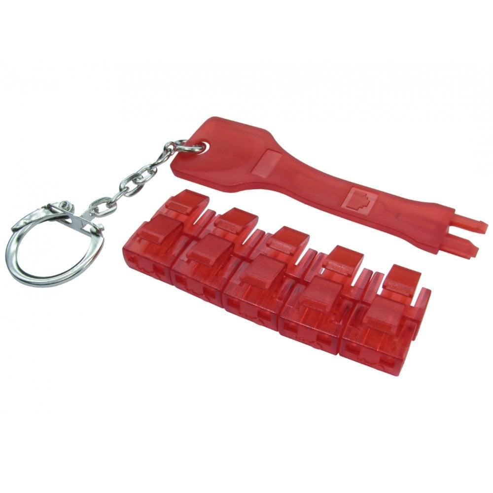 Cables Direct NLRJ45-PB01 port blocker Port blocker key RJ-45 Red Plastic