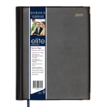 ELITE DIARY 2019 ELITE EXECUTIVE 246X164MM DTP BLACK ( EACH )