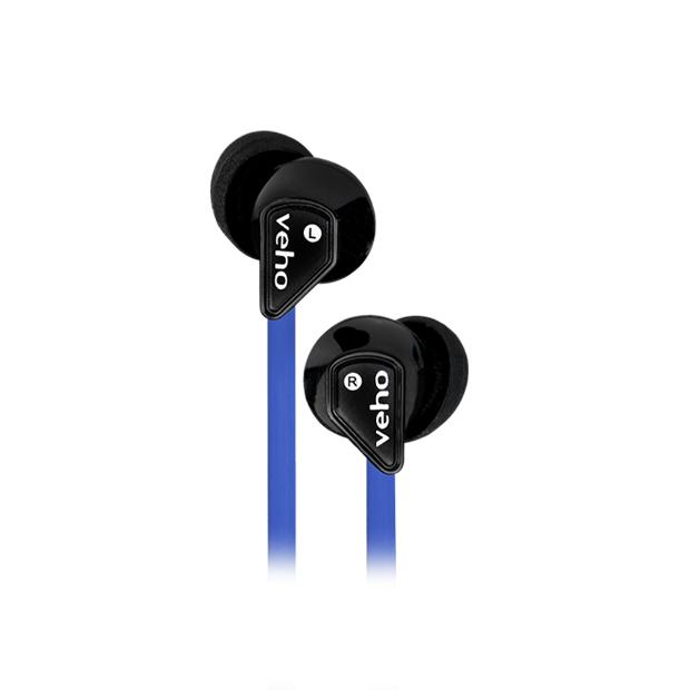 Veho Z1 Auriculares Dentro de oído Negro, Azul