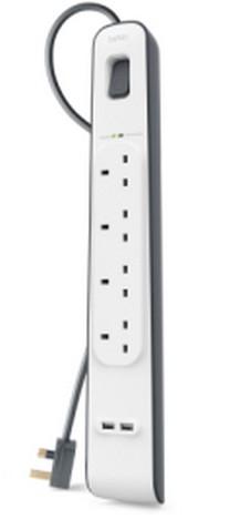 Belkin BSV401AF2M surge protector White 4 AC outlet(s) 2 m