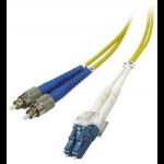 Microconnect FIB462001 fibre optic cable 1 m LC/APC FC/APC Yellow