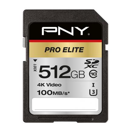 PNY PRO Elite memory card 512 GB SDXC Class 10 UHS-I
