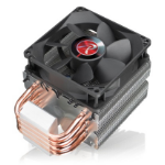 RAIJINTEK Aidos Processor Cooler 9.2 cm Black, Copper, Metallic