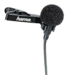 Hama LM-09 Lavalier Microphone Wired Black