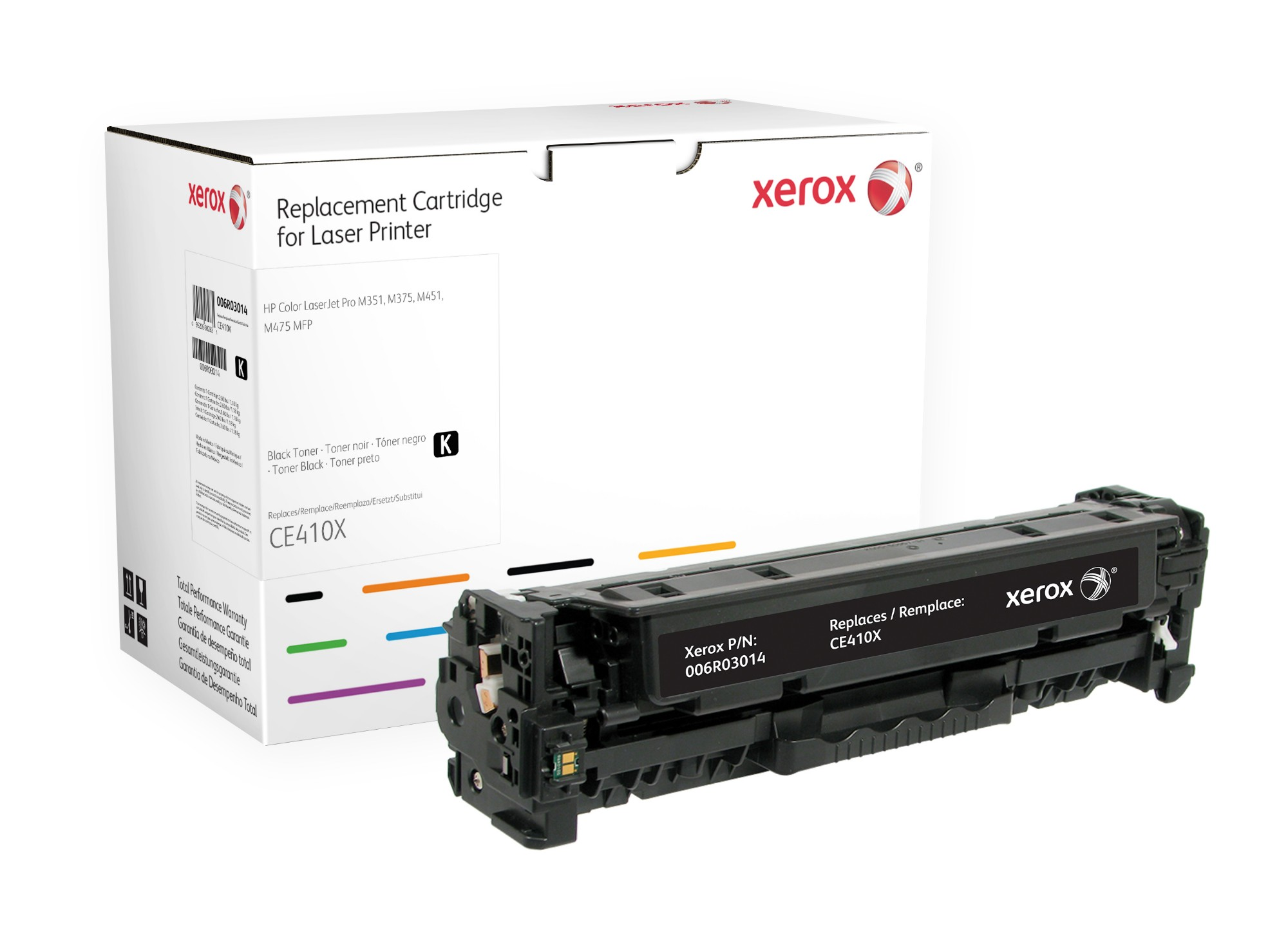 Xerox Cartucho de tóner negro. Equivalente a HP CE410X. Compatible con HP Colour LaserJet M351A, Colour LaserJet M375MFP, Colour LaserJet M451, Colour LaserJet M475 MFP