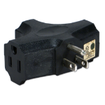 QVS PA-3P-12PK power plug adapter NEMA 5-15 Black