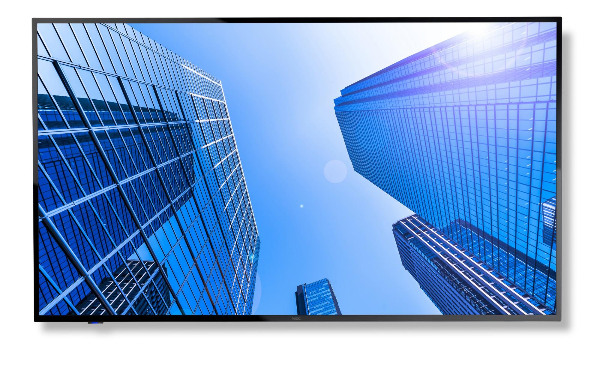 """NEC MultiSync E557Q 139,7 cm (55"""") LED 4K Ultra HD Pantalla plana para señalización digital Negro"""