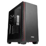 Antec P7 Window Midi-Tower Black, Red computer case