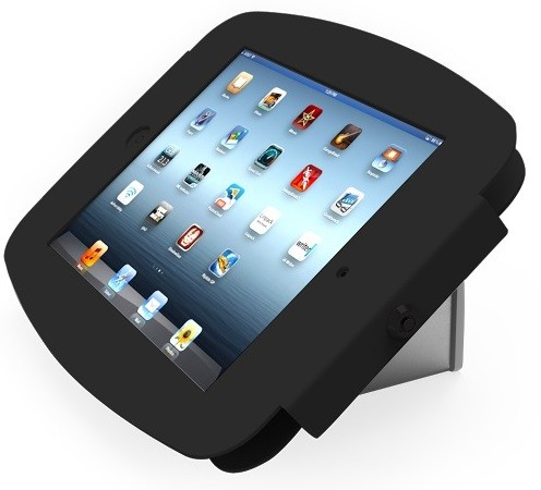 Maclocks Compulocks iPad Secure Space Enclosure with Flip Kiosk Base Black - Stand for tablet - black - wall-