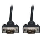 Tripp Lite Low-Profile VGA Coax Monitor Cable, High Resolution Cable with RGB Coax (HD15 M/M), 6-ft.