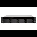 QNAP TS-863XU-RP Ethernet LAN Rack (2U) Aluminium,Black NAS