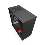 NZXT Matte Black & Red H510i Mid Tower Chassis (Smart Device)