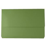 White Box WB DOCUMENT WALLET FOOLSCAP GREEN 220GSM
