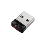 Sandisk Cruzer Fit USB flash drive 64 GB USB Type-A 2.0 Zwart, Zilver