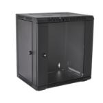 V7 RMWC12UG450-1E rack cabinet 12U Wall mounted rack Black