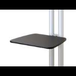 Newstar Extra shelf for Floor Stands PLASMA-M1200, PLASMA-M1800E & PLASMA-M2000E - Black. Compatible with Ne