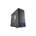 Cooler Master MasterBox E500L Midi-Tower Black, Blue computer case