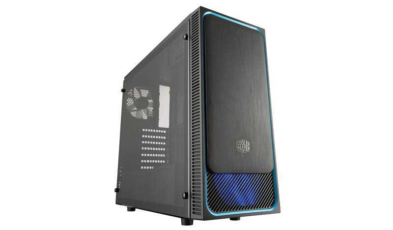 Cooler Master MasterBox E500L Midi-Tower Black, Blue computer case