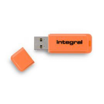 Integral NEON USB flash drive 16 GB USB Type-A 2 Orange