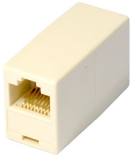 Cables Direct RJ-45 1x RJ-45 White wire connector