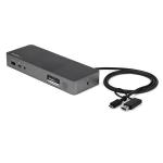 StarTech.com USB-C & USB-A Dock - Hybrid Universal Laptop Docking Station w/ Dual Monitor 4K60Hz HDMI & DisplayPort - USB 3.1 Gen 1 Hub, GbE - 60W Power Delivery - Windows, Mac & Chrome