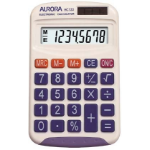 Aurora HC133 calculator Pocket Basic White