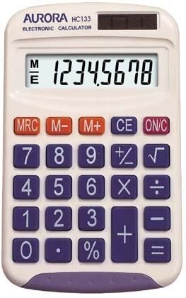 Aurora HC133 calculator Pocket Basic White