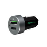 mBeat ® QuickBoost USB 2.0 & USB Type-C Dual Port Car Charger -  Certified Qualcomm Quick Charge 2.0 techn