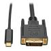 Tripp Lite USB Type-C (USB-C) to DVI Adapter Cable (M/M), 1920 x 1080 (1080p), 1.83 m