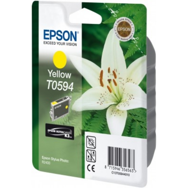 Epson C13T05944010 (T0594) Ink cartridge yellow, 520 pages, 13ml
