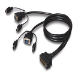 Belkin OmniView ENTERPRISE Series Dual-Port PS/2 KVM Cable 1.8m Black KVM cable