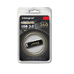Integral 8GB Secure 360 Encrypted USB3.0 8GB USB 3.0 (3.1 Gen 1) USB Type-A connector Black, Gold USB flash drive