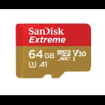 Sandisk Extreme memory card 64 GB MicroSDXC Class 10 UHS-I