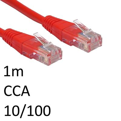 TARGET RJ45 (M) to RJ45 (M) 10/100 Network 5e 1m Red OEM Moulded Boot CCA Economy Network Cable