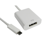 CABLES DIRECT 15CM LEAD USB C(M)-DISP PORT(F) ADA