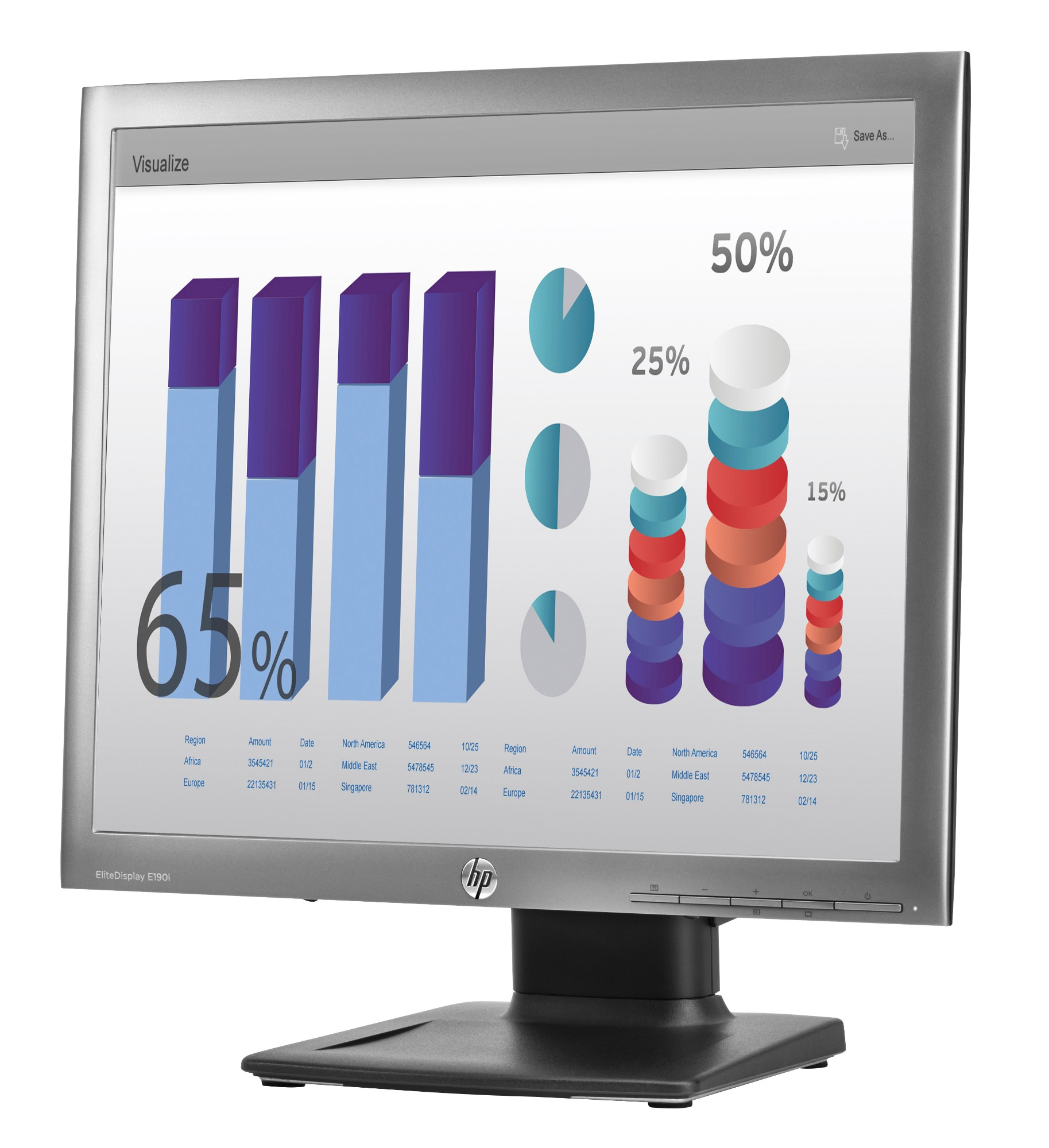 LED Monitor - EliteDisplay E190i - 18.9in - 1280x1024 (SXGA)