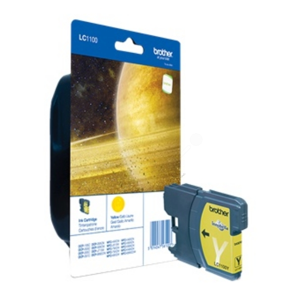 Brother LC-1100Y Ink cartridge yellow, 325 pages, 6ml