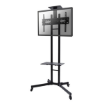 "Newstar PLASMA-M1700E 55"" Portable flat panel floor stand Black flat panel floorstand"