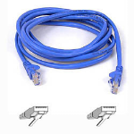 Belkin Cable patch CAT5 RJ45 snagless 1m blue 1m Blue networking cable