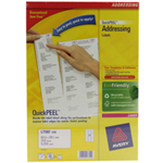 Avery L7160-250 White Self-adhesive label addressing label