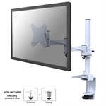 """Newstar FPMA-D1330WHITE 30"""" White flat panel desk mount"""
