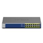 Netgear GS516PP Unmanaged Gigabit Ethernet (10/100/1000) Blue, Grey Power over Ethernet (PoE)