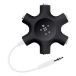 Belkin F8Z274BTBLK audio cable 3.5mm 5 x 3.5mm Black, White