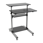 Tripp Lite Rolling Standing Desk/Workstation on Wheels, Height Adjustable, Mobile