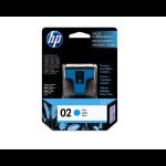 HP 02 Cian cartucho de tinta