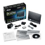 ASUS DSL-AC56U wireless router Dual-band (2.4 GHz / 5 GHz) Gigabit Ethernet 3G Black