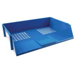 Q-CONNECT Q CONNECT WIDE ENTRY LETTER TRAY BLUE