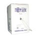 Tripp Lite Cat6 Gigabit Bulk Solid PVC Cable - Gray, 1000-ft.