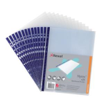 Rexel Nyrex  Reinforced Top Opening A4 Pocket Clear (25) filing pocket